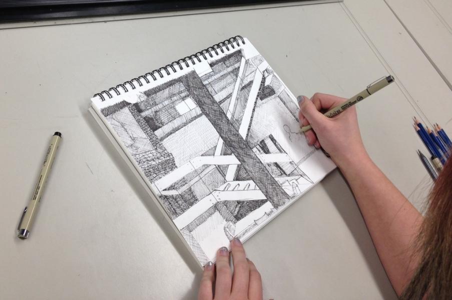 Site visit sketching