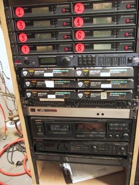 Left half of equipment rack