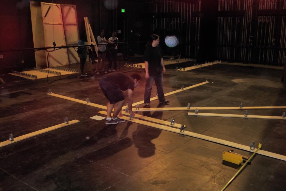 Noises Off Turn Table Scott Parker Technical Director 14